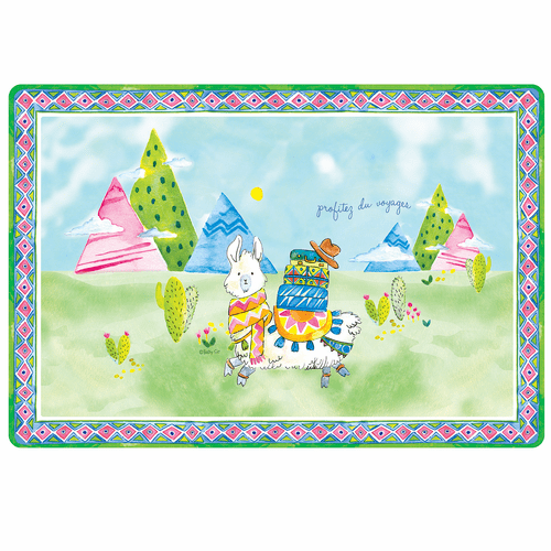 "Enjoy the Journey Anti-Slip 17"" x 11.5"" Placemat by Baby Cie"