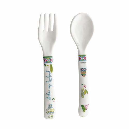 Enjoy the Journey Fork and Spoon by Baby Cie
