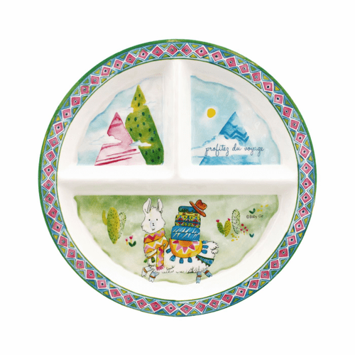 Enjoy the Journey Sectioned Plate by Baby Cie
