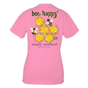Flamingo Bee Happy Short Sleeve Tee by Simply Southern