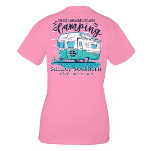 Flamingo Camping Short Sleeve Tee by Simply Southern