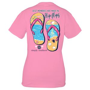 Flamingo Flip Flop Short Sleeve Tee by Simply Southern