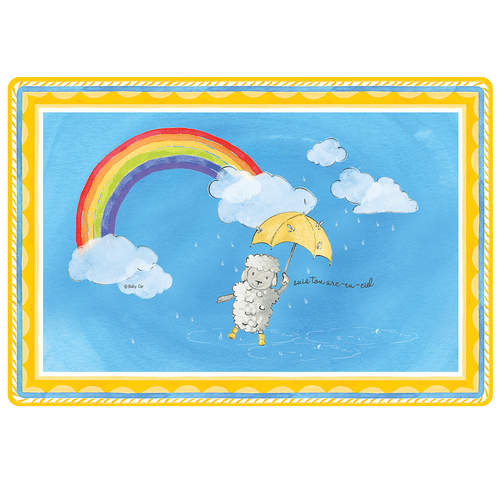 "Follow Your Rainbow Anti-Slip 17"" x 11.5"" Placemat by Baby Cie"