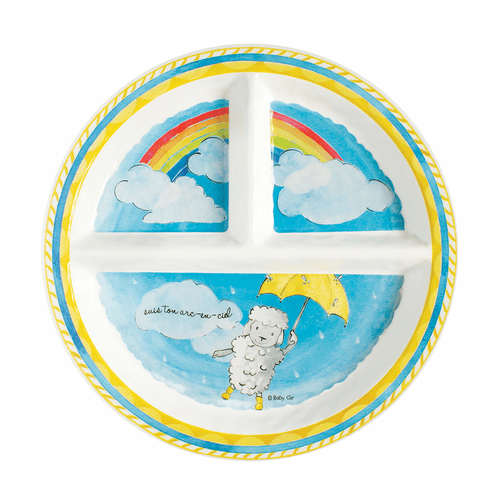 Follow Your Rainbow Sectioned Plate by Baby Cie