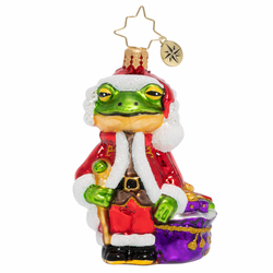 Froggy Santa Gem Ornament by Christopher Radko