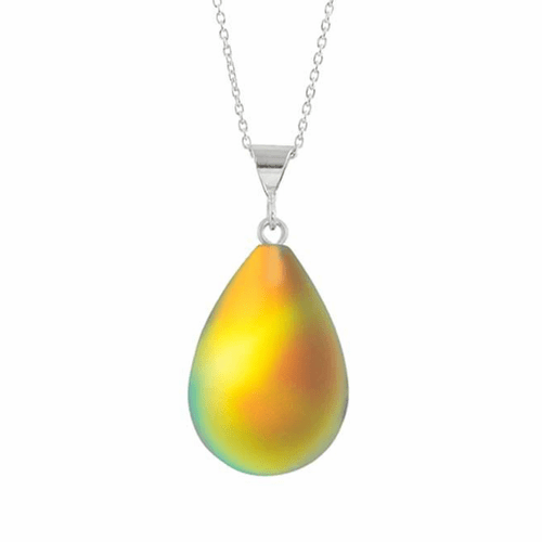 Frosted Fire Small Drop Pendant by LeightWorks Wearable Fine Art