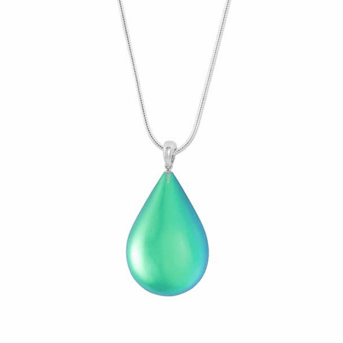 Frosted Green Medium Drop Pendant by LeightWorks Wearable Fine Art