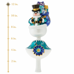 Frosty Gifts Finial Ornament by Christopher Radko