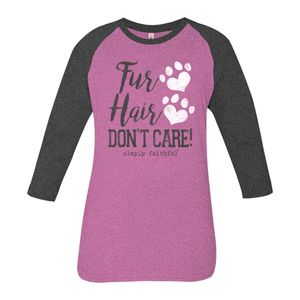 Fur Hair Don't Care Simply Faithful Tee by Simply Southern