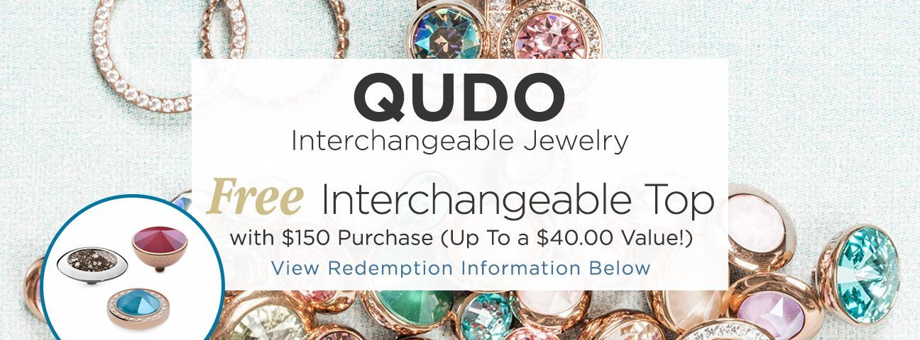 Gift with Purchase Interchangeable Tops by Qudo Jewelry