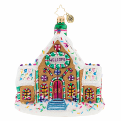 Gingerbread Dream Home Ornament by Christopher Radko