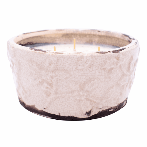Gingerbread Holiday Pottery Bowl (Color: Ivory)