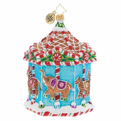 Gingerbread Menagerie Carousel Ornament by Christopher Radko