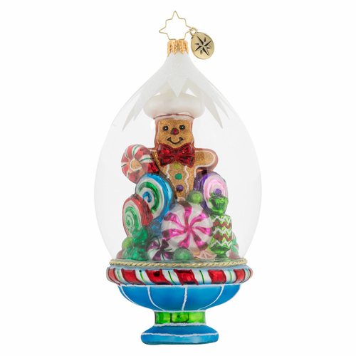 Gingerbread On Display Ornament by Christopher Radko