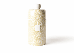 Gold Small Dot Mini Canister by Happy Everything!