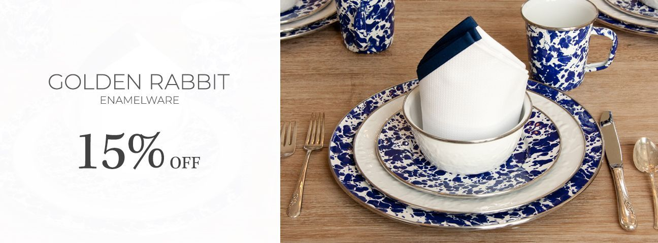 Golden Rabbit Enamelware Collection