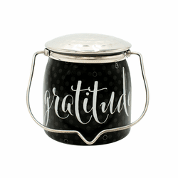 Gratitude Jar 16 oz. Sentiments Special Edition Wrapped Butter Jar by Milkhouse Candle Creamery