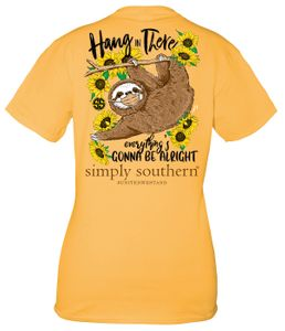 Hang In There Mustard Short Sleeve Tee by Simply Southern