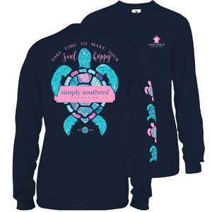Happy Soul Midnight Long Sleeve Tee by Simply Southern