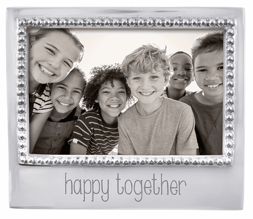 """""""Happy Together"""" Beaded 4x6 Frame by Mariposa"""