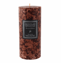 Havana Tall Pillar Candle by Archipelago