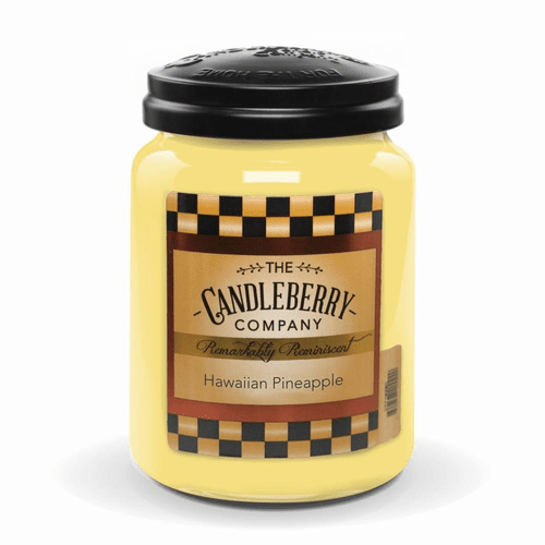 Hawaiian Pineapple 26 oz. Large Jar Candle Candleberry Candle