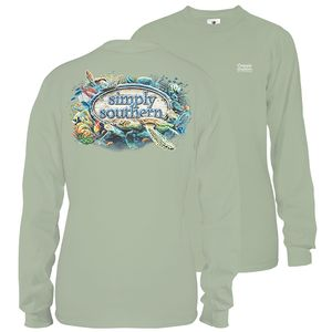 Hazel Unisex Reef Life Long Sleeve Tee by Simply Southern