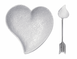 Heart Ceramic Dish & Arrow Spoon by Mariposa