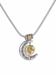 Heart in Moon Necklace - I love you to the moon and back Necklace by John Medeiros