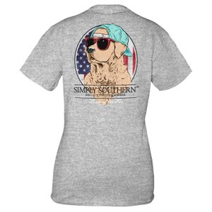 Heather Gray Freedom Short Sleeve Tee by Simply Southern