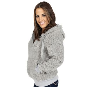 Heather Gray Sherpa Hoodie by Simply Southern