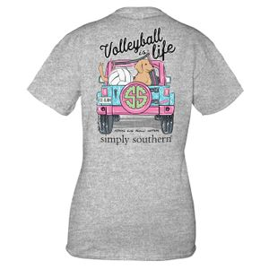 Heather Gray Volleyball Short Sleeve Tee by Simply Southern