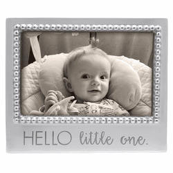 Hello Little One 4x6 Beaded Frame by Mariposa