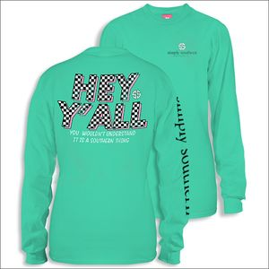 Hey Y'all Aruba Long Sleeve Tee by Simply Southern
