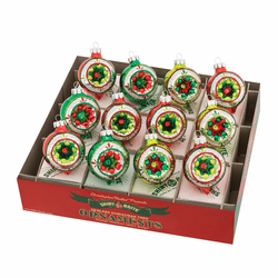 "Holiday Splendor 1.75"" Reflector Rounds by Christopher Radko (Set of 12)"
