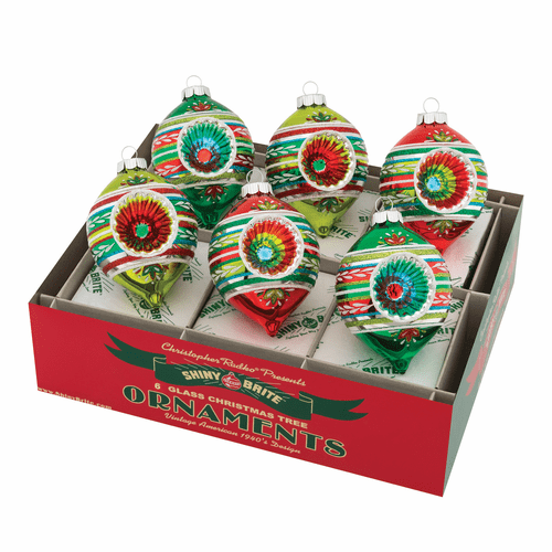 """Holiday Splendor 3.25"""" Decorated Reflector Tulips by Christopher Radko (Set of 6) (Ships Fall 2019)"""