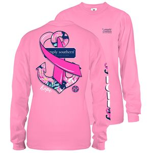 Hope Flamingo Long Sleeve Tee by Simply Southern