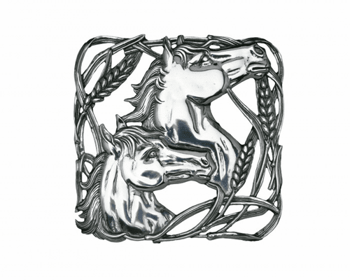 Horse with Wheat Trivet by Arthur Court