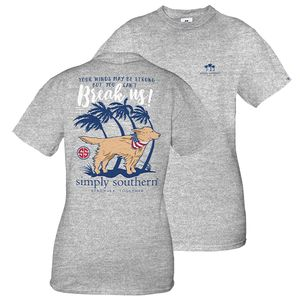 Hurricane Heather Gray Short Sleeve Tee by Simply Southern