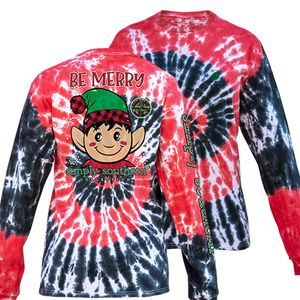 Hurricane Tiedye Be Merry Elf Long Sleeve Tee by Simply Southern