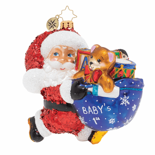 Hurry Santa! It's Baby's First Christmas! Ornament by Christopher Radko