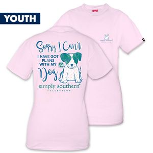I Have Plans With My Dog YOUTH Short Sleeve Tee by Simply Southern