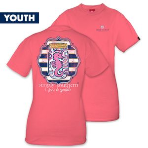 I Shore do Sparkle YOUTH Short Sleeve Tee by Simply Southern