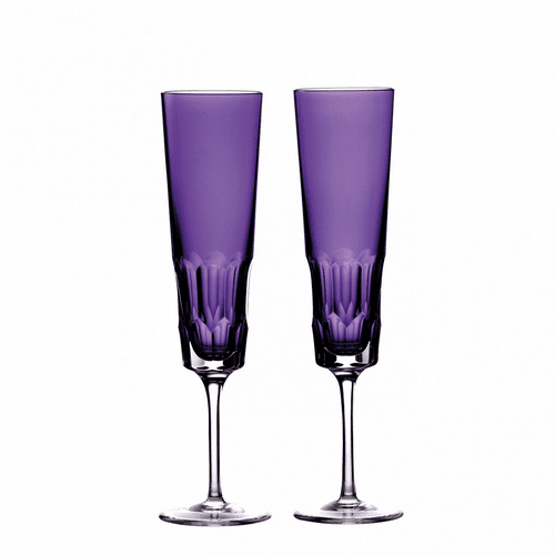 Icon Amethyst Flute Pair by Waterford