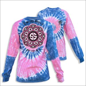 If You Can Dream It Mandala Taffy Long Sleeve Tee by Simply Southern