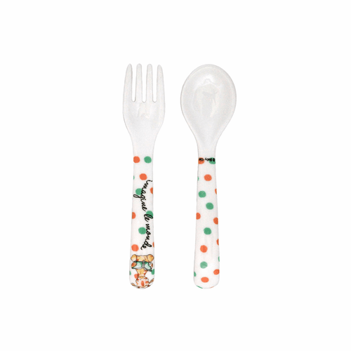 Imagine the World Fork and Spoon by Baby Cie