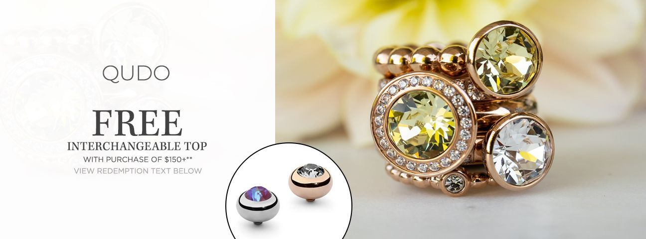 Interchangeable Ring Bases by Qudo Jewelry