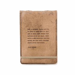 Jack London Leather Journal by Sugarboo Designs