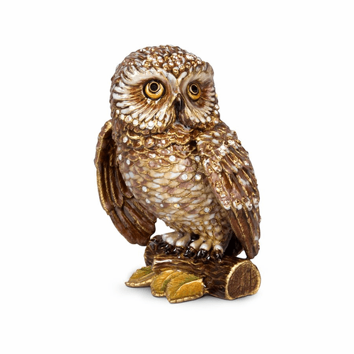 "Jay Strongwater Hildy Owl 5"" Figurine - Special Order"
