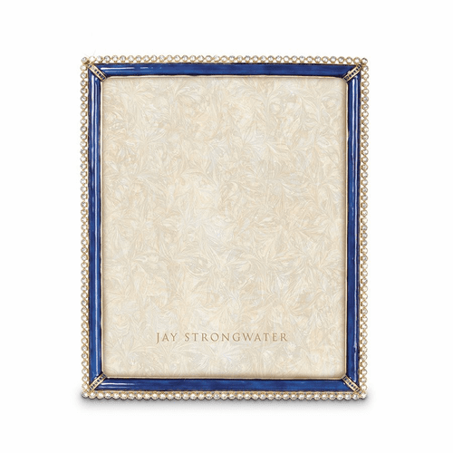"""Jay Strongwater Laetitia Stone Edge 8"""" x 10"""" Frame - Delft Garden - Special Order"""